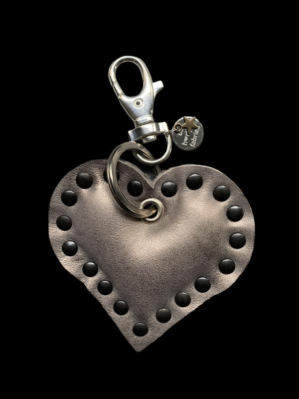 Leren hart in brons/goudkleur